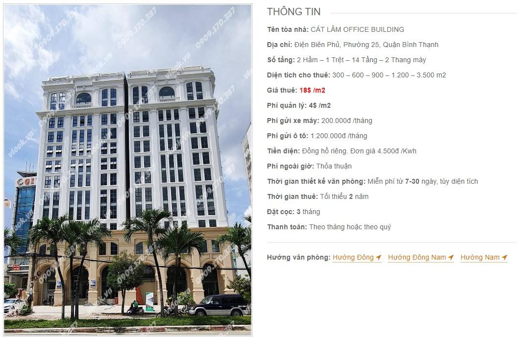 Danh sách công ty thuê văn phòng tại Cát Lâm Office Building, Quận Bình Thạnh