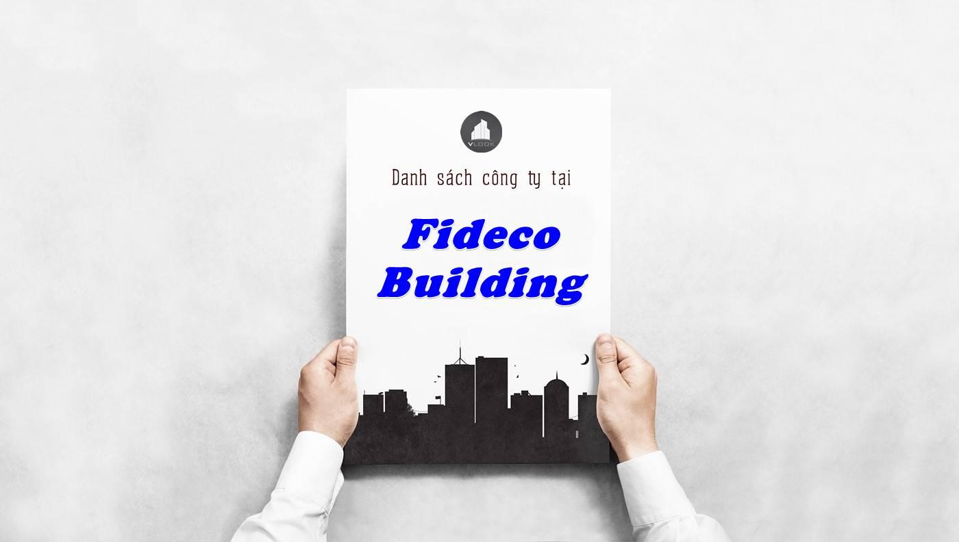 Danh sách công ty thuê văn phòng tại Fideco Building, Quận 1