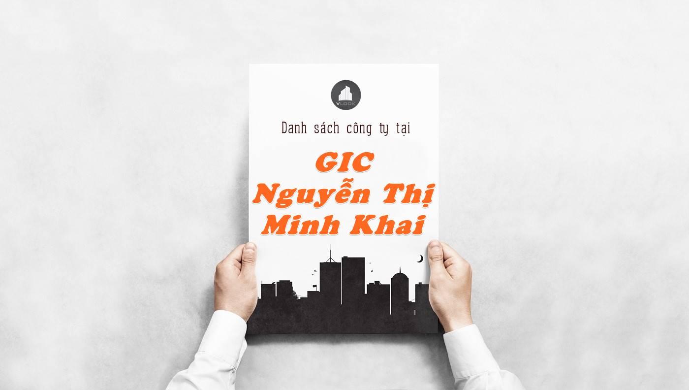Danh sách công ty thuê văn phòng tại GIC Nguyễn Thị Minh Khai, Quận 1