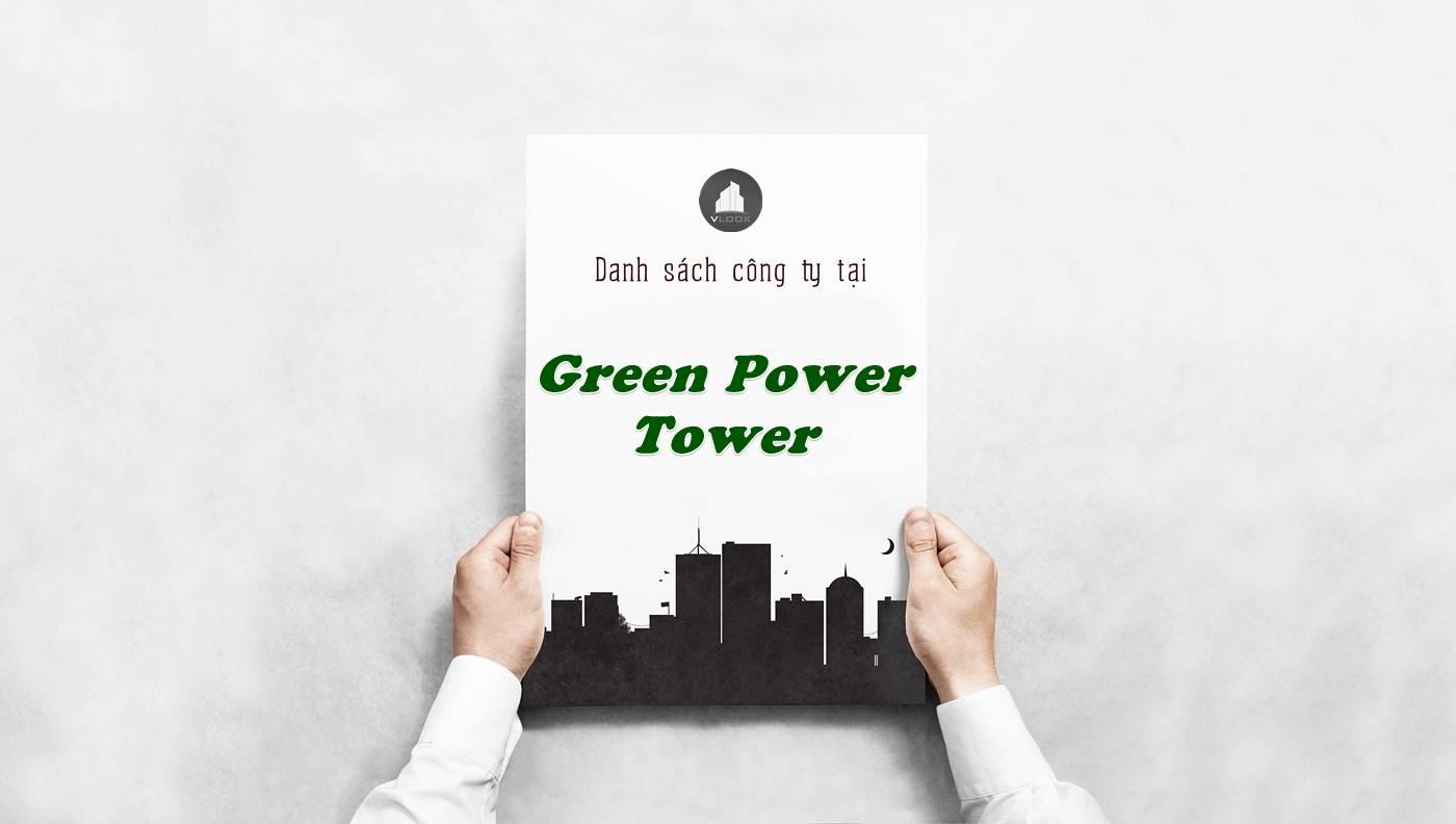 Danh sách công ty thuê văn phòng tại Green Power Tower, Quận 1