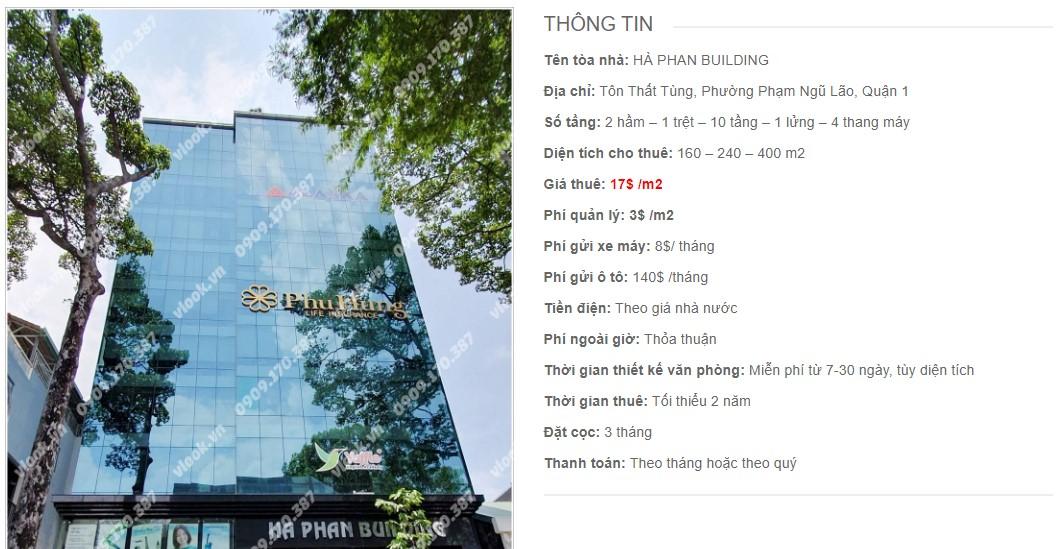 Danh sách công ty thuê văn phòng tại Hà Phan Building, Quận 1