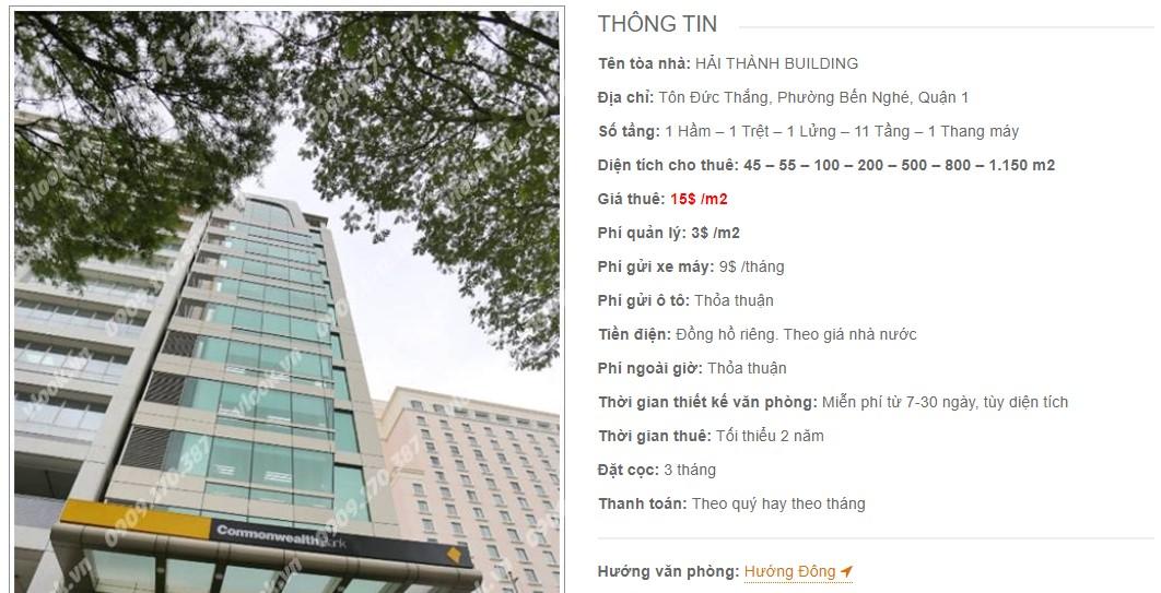 Danh sách công ty thuê văn phòng tại Hải Thành Building, Quận 1