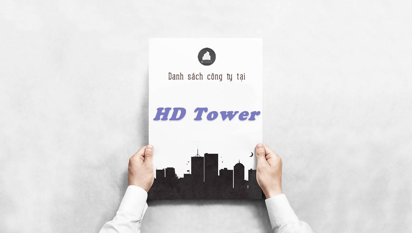 Danh sách công ty thuê văn phòng tại HD Tower, Quận 1