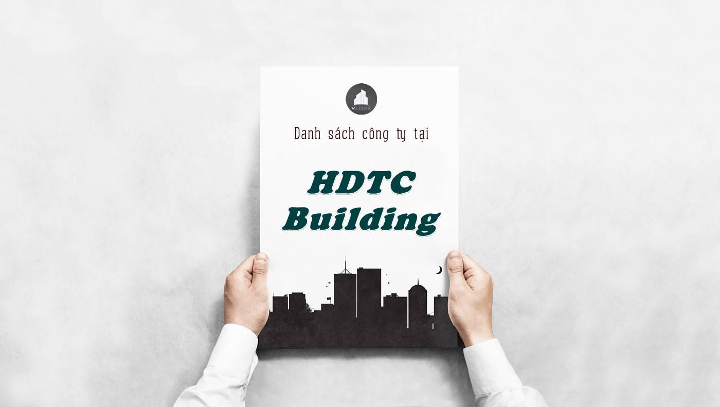 Danh sách công ty thuê văn phòng tại HDTC Building, Quận 1