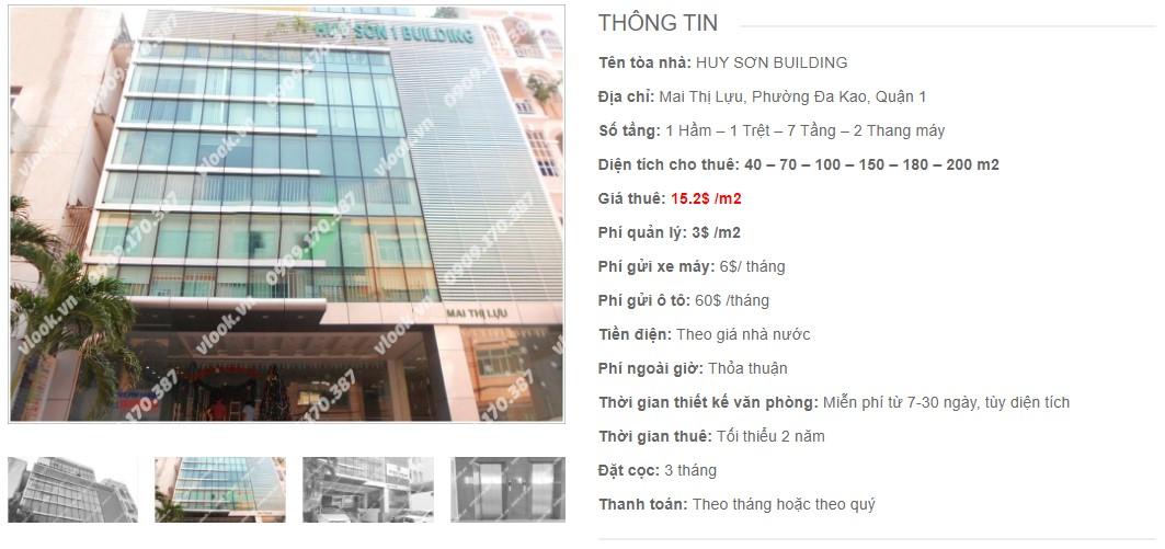 Danh sách công ty thuê văn phòng tại Huy Sơn Building, Quận 1