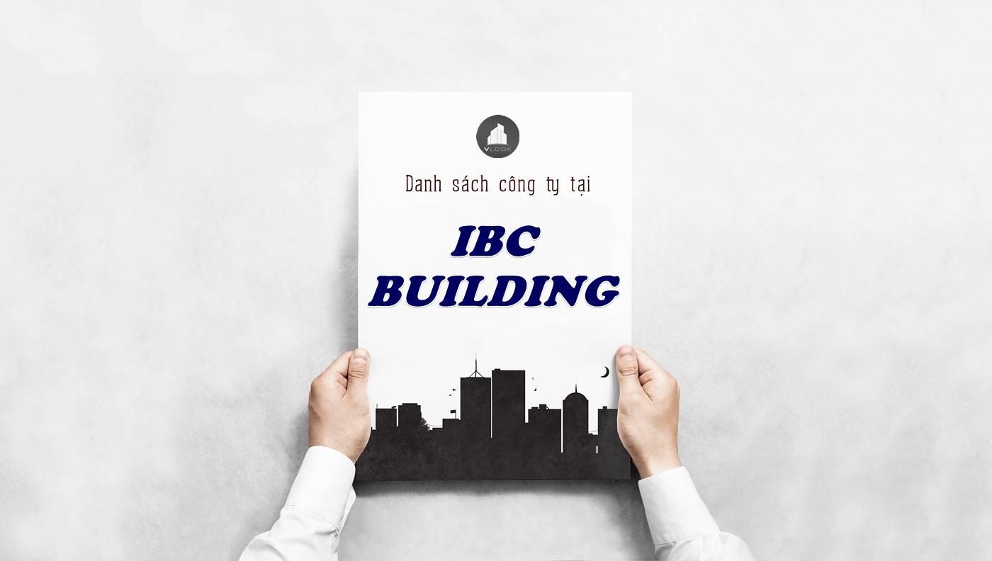 Danh sách công ty thuê văn phòng tại IBC Building, Quận 1