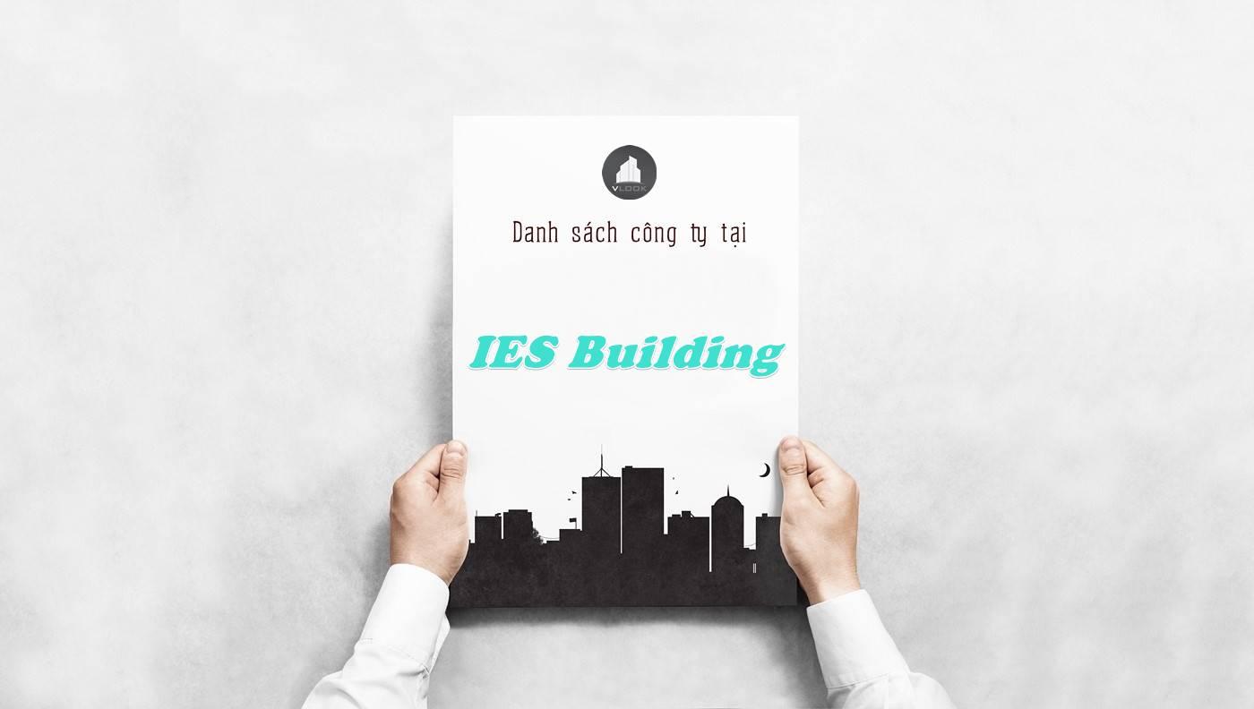 Danh sách công ty thuê văn phòng tại IES Building, Quận 1