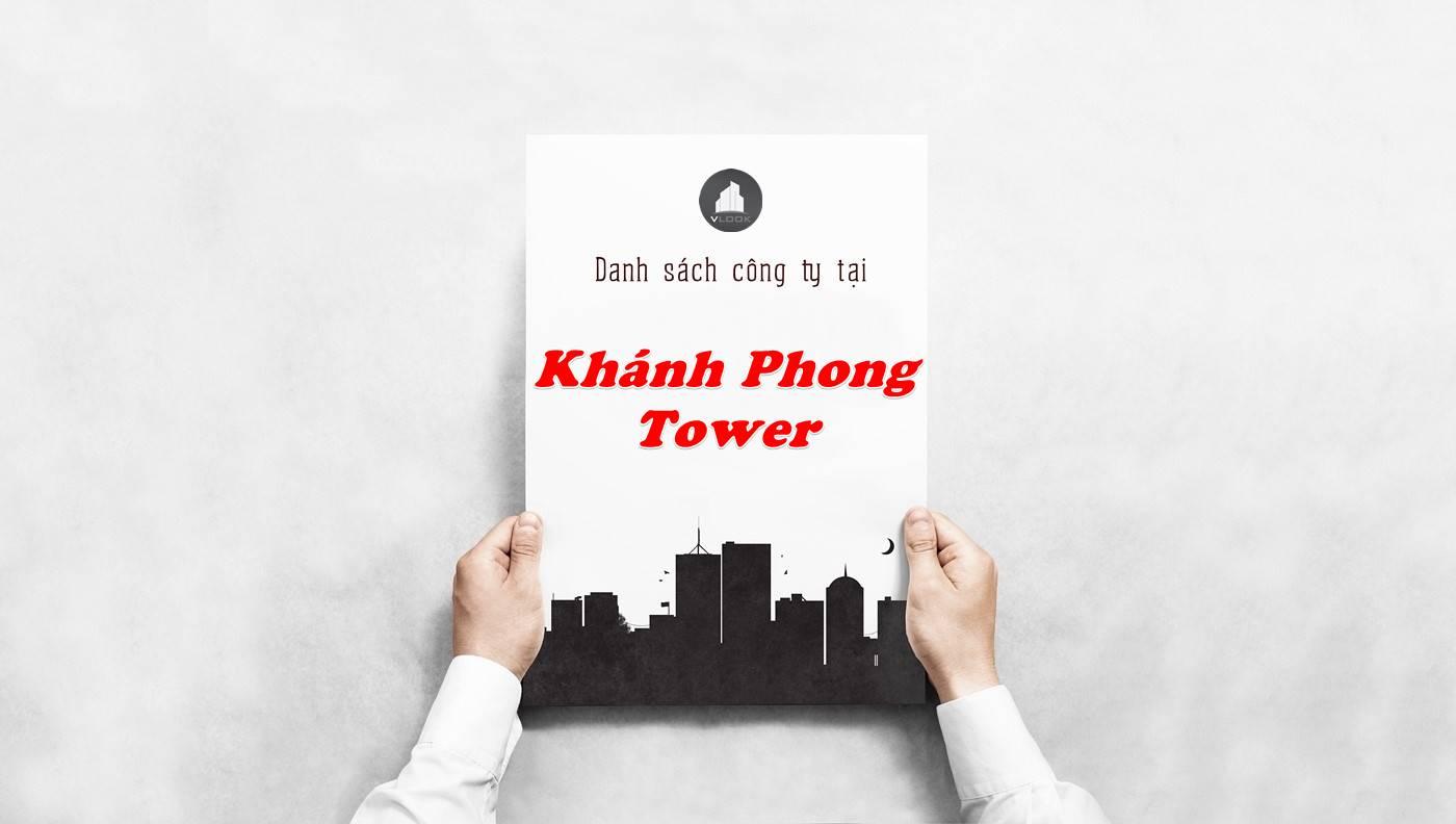 Danh sách công ty thuê văn phòng tại Khánh Phong Tower, Quận 1