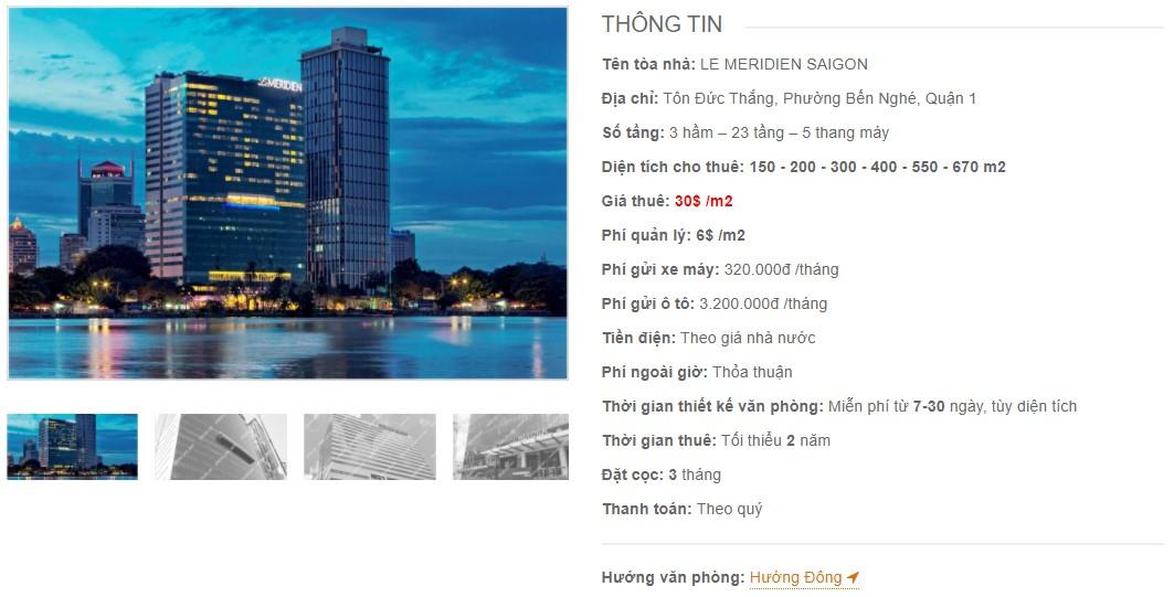 Danh sách công ty thuê văn phòng tại Le Meridien Saigon, Quận 1