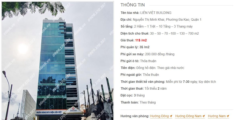 Danh sách công ty thuê văn phòng tại Liên Việt Building, Quận 1