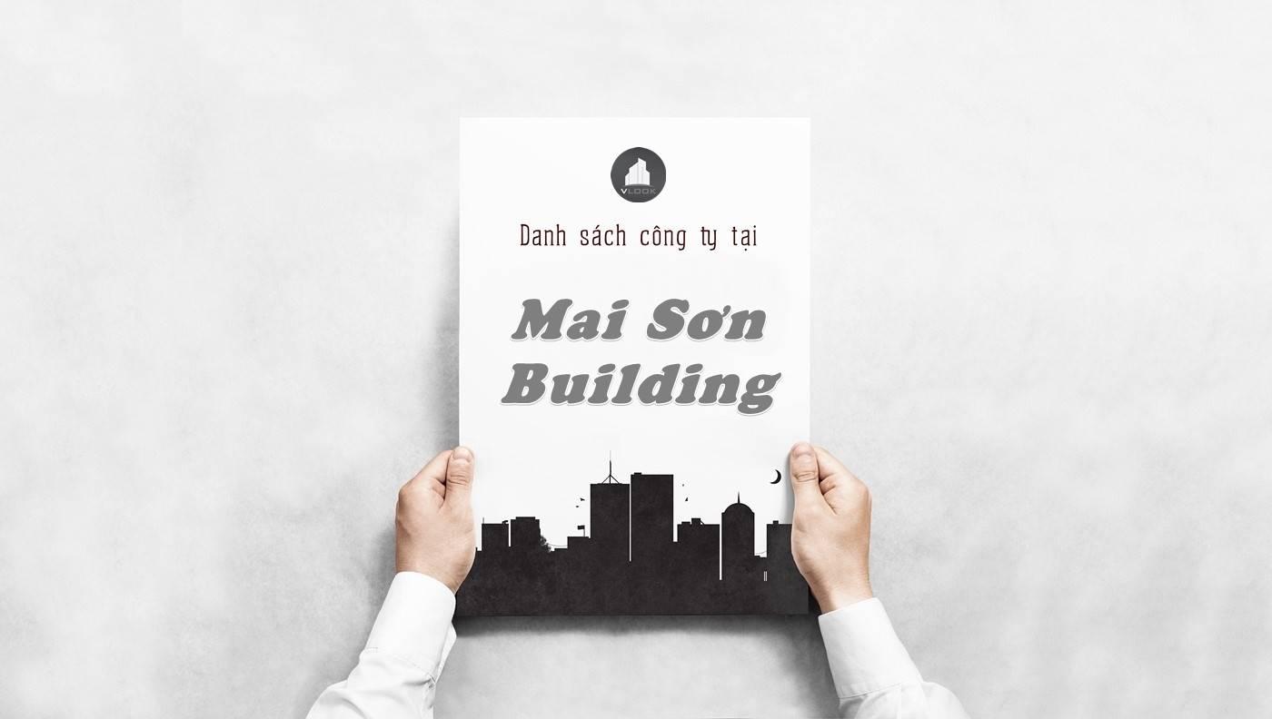 Danh sách công ty thuê văn phòng tại Mai Sơn Building, Quận 1