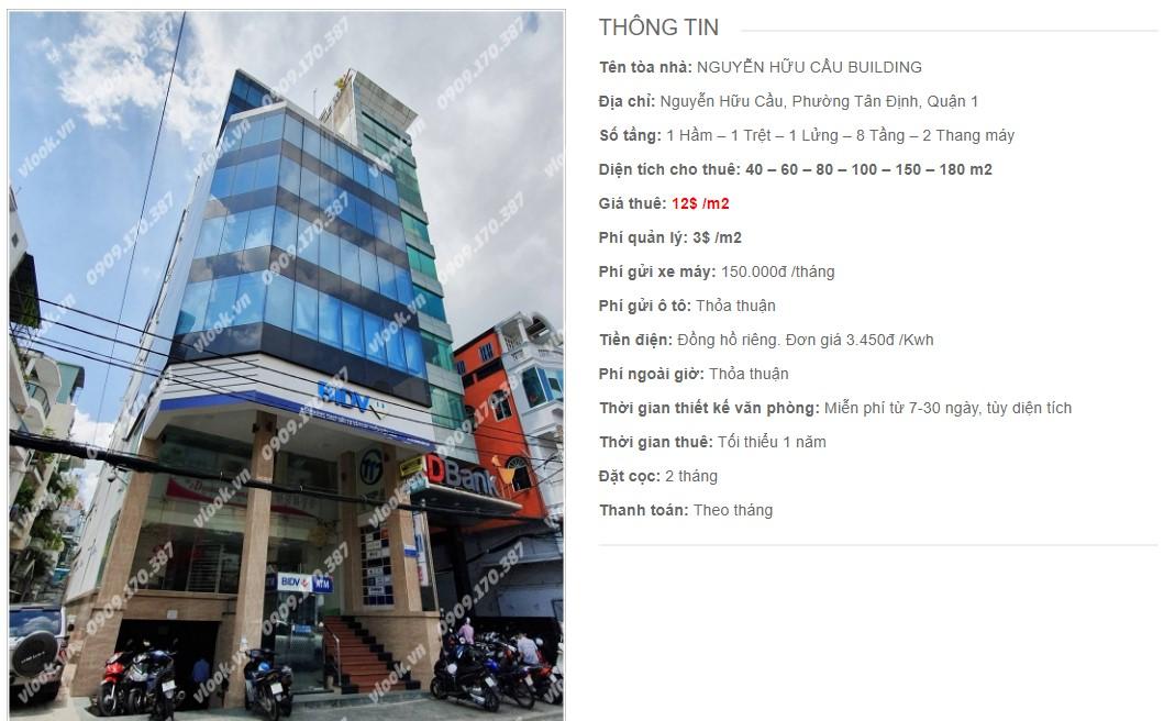 Danh sách công ty thuê văn phòng tại Nguyễn Hữu Cầu Building, Quận 1