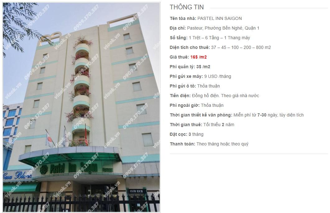 Danh sách công ty thuê văn phòng tại Pastel Inn Saigon, Quận 1