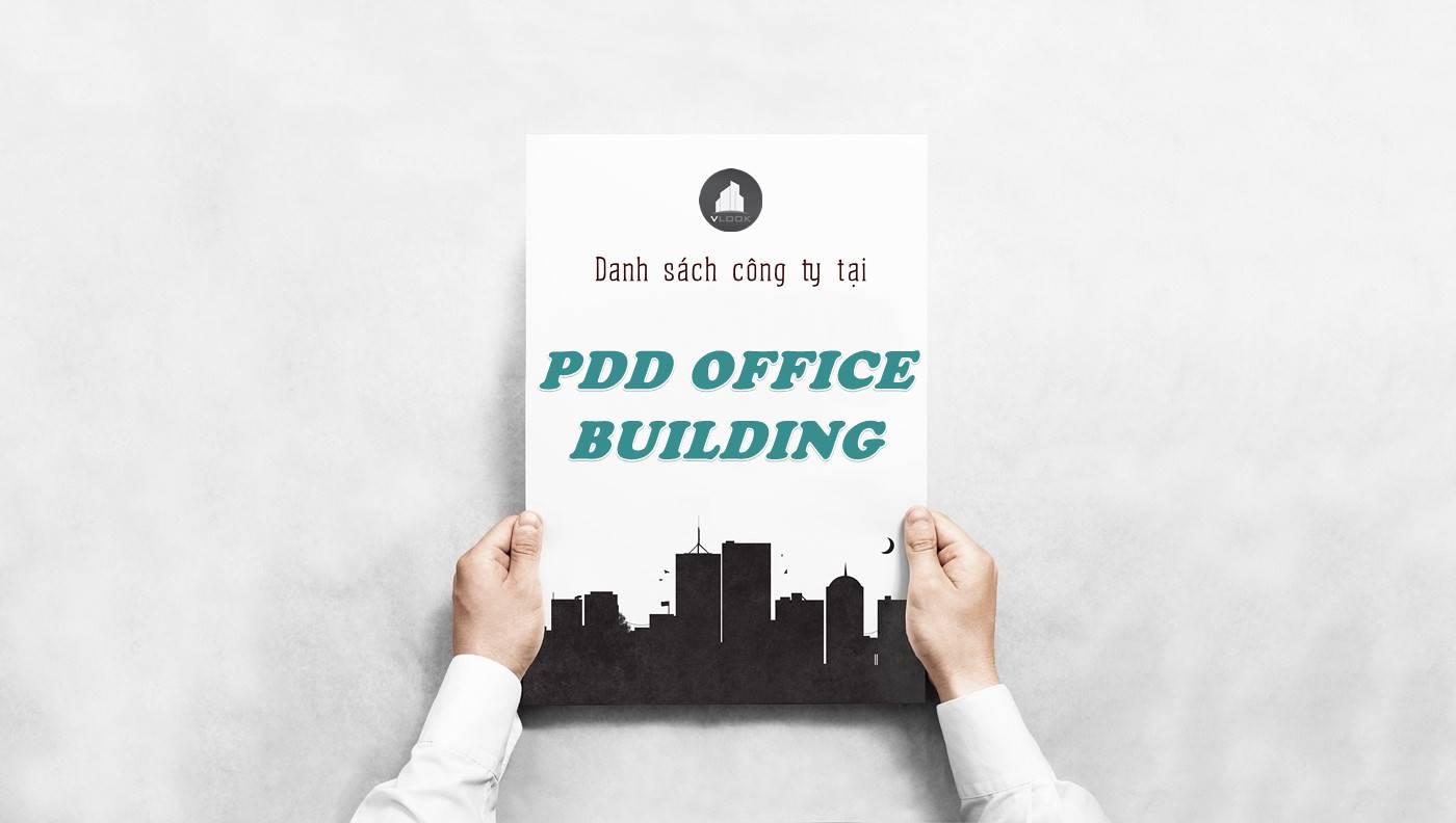 Danh sách công ty thuê văn phòng tại PDD Office Building, Quận 1