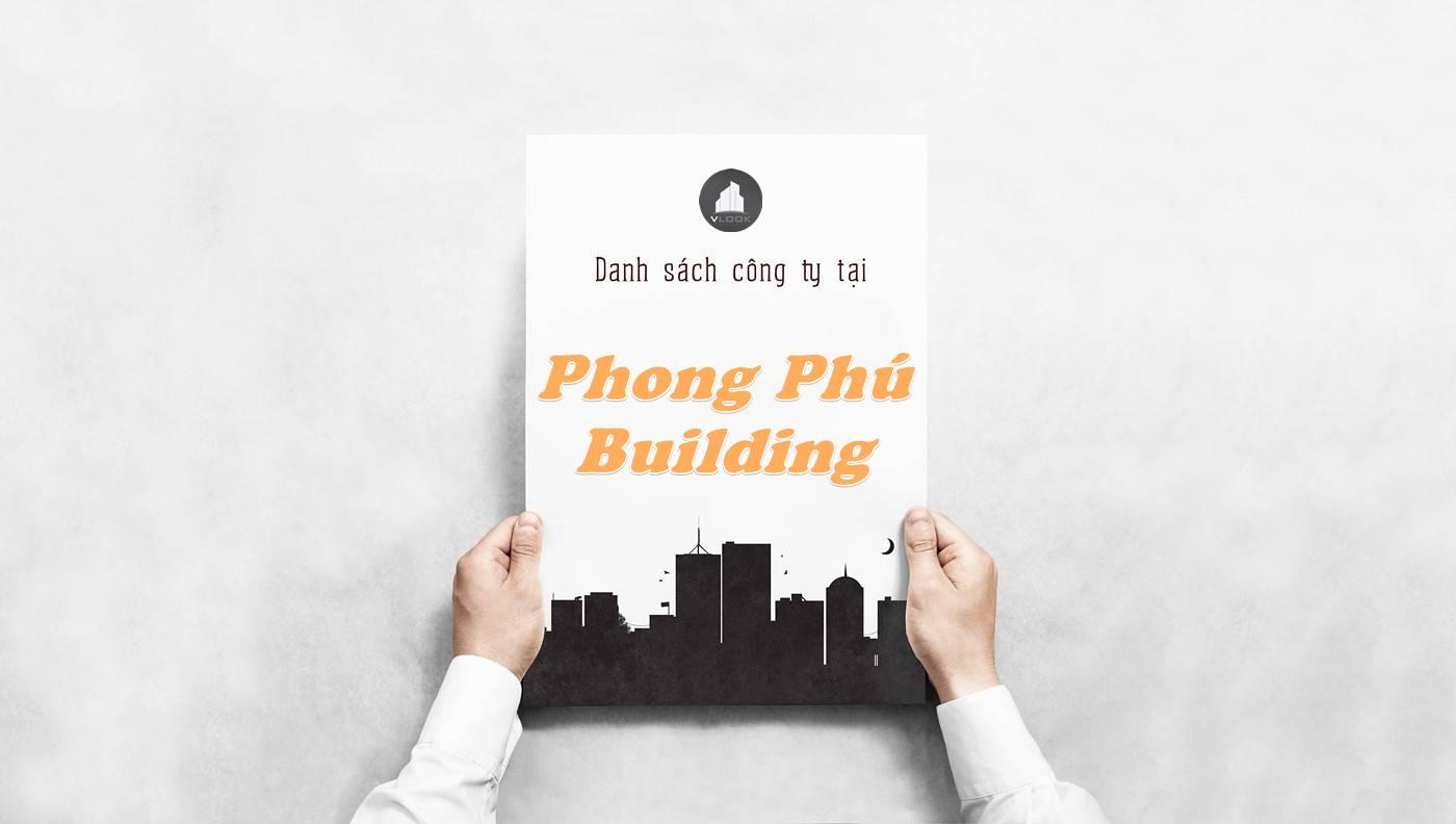 Danh sách công ty thuê văn phòng tại Phong Phú Building, Quận 1