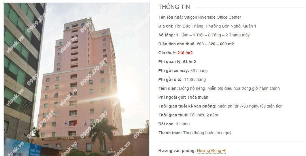 Danh sách công ty thuê văn phòng tại Saigon Riverside Office Center, Quận 1
