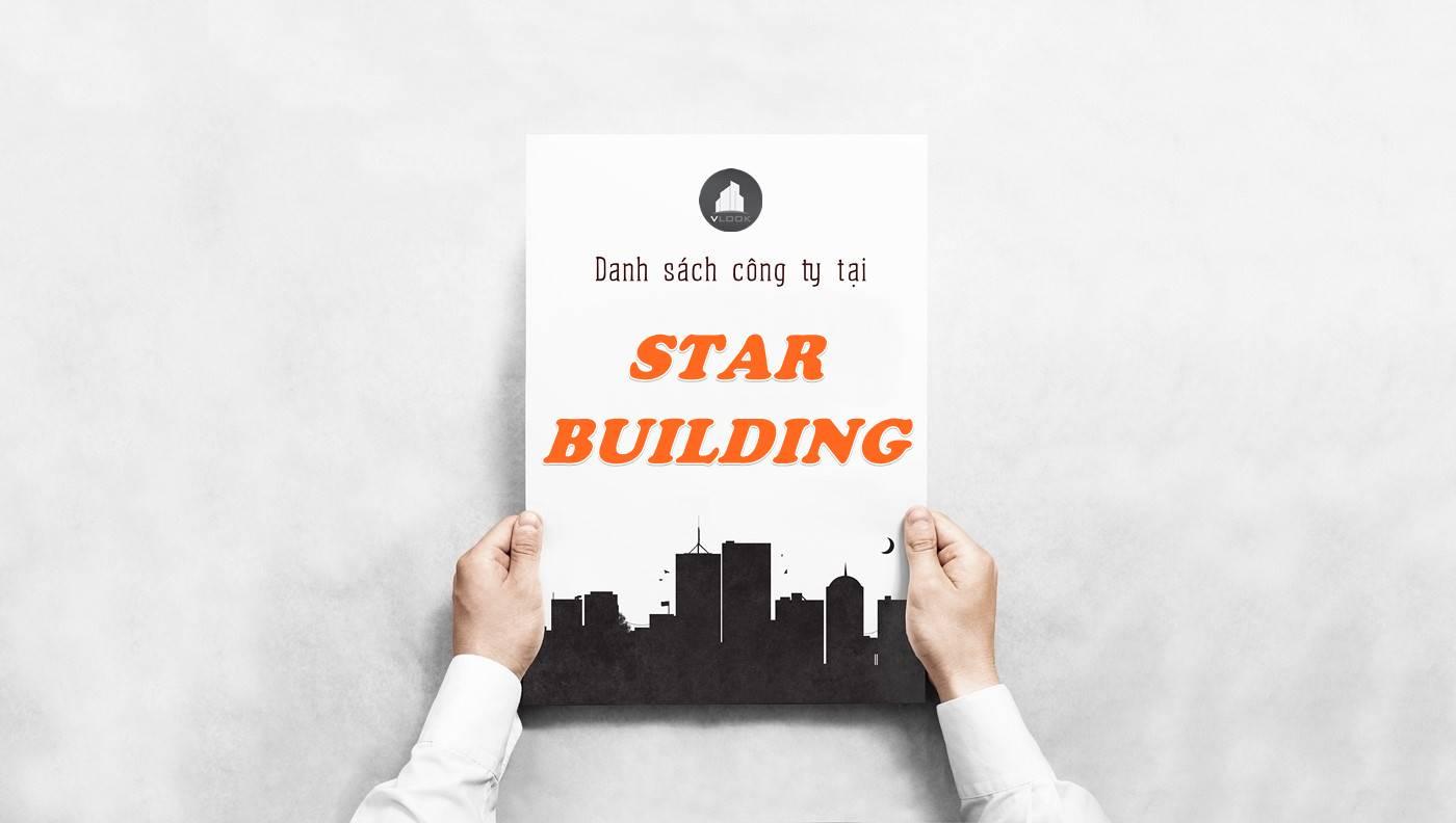 Danh sách công ty thuê văn phòng tại Star Building, Quận 1