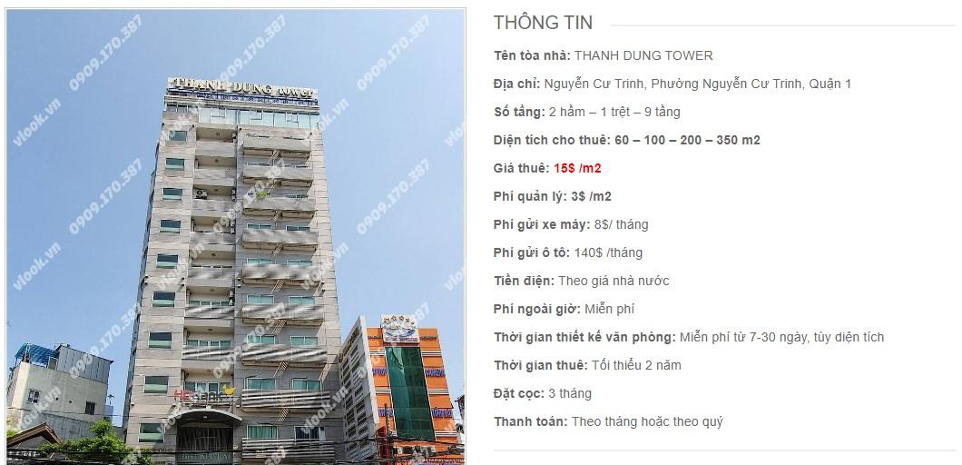 Danh sách công ty thuê văn phòng tại Thanh Dung Tower, Quận 1