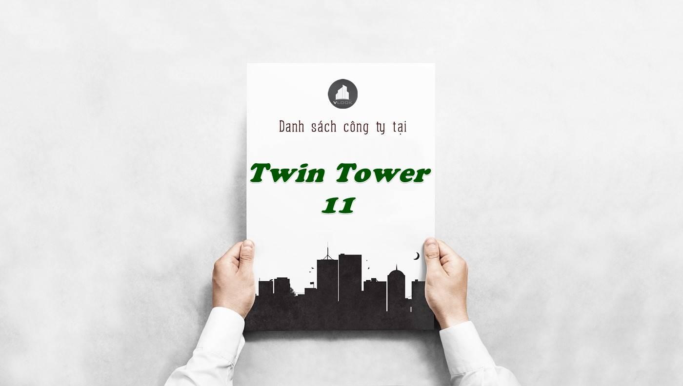 Danh sách công ty thuê văn phòng tại Twin Tower 11, Quận 1