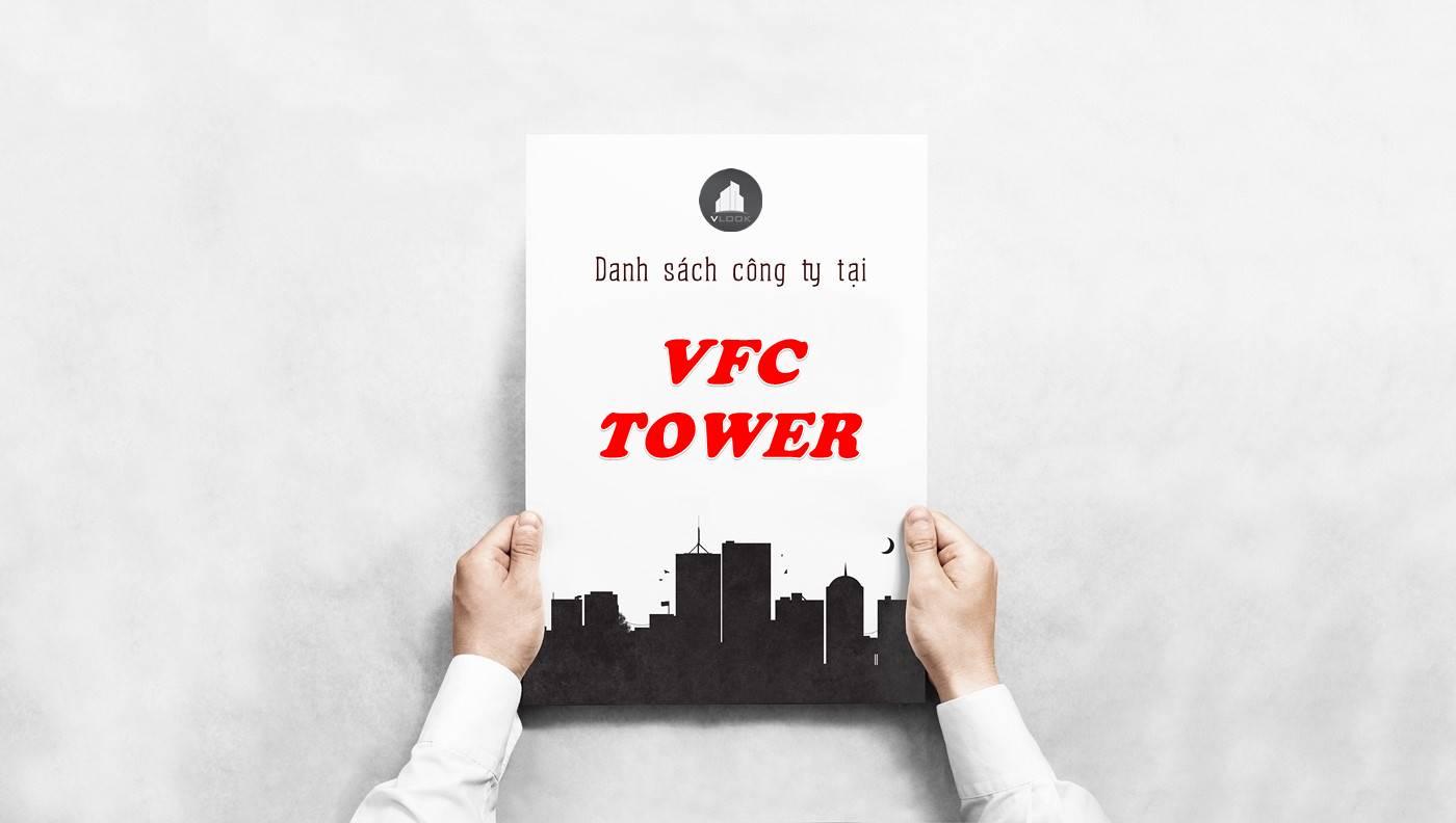 Danh sách công ty thuê văn phòng tại VFC Tower, Quận 1