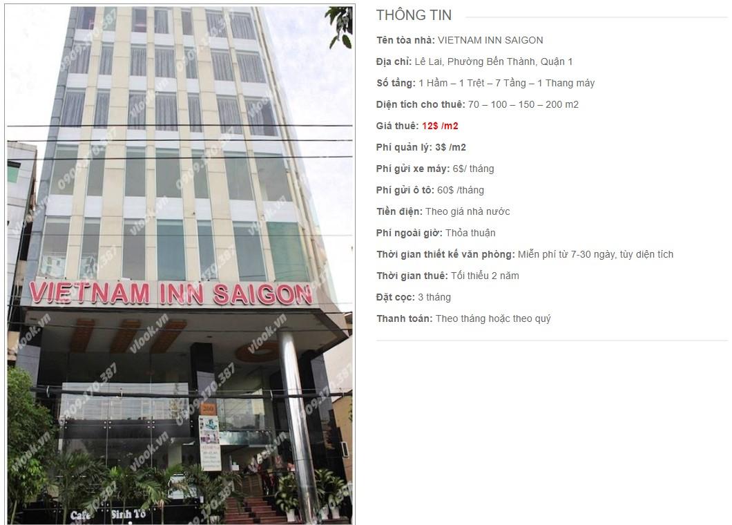 Danh sách công ty thuê văn phòng tại tòa nhà Vietnam Inn Saigon, Quận 1