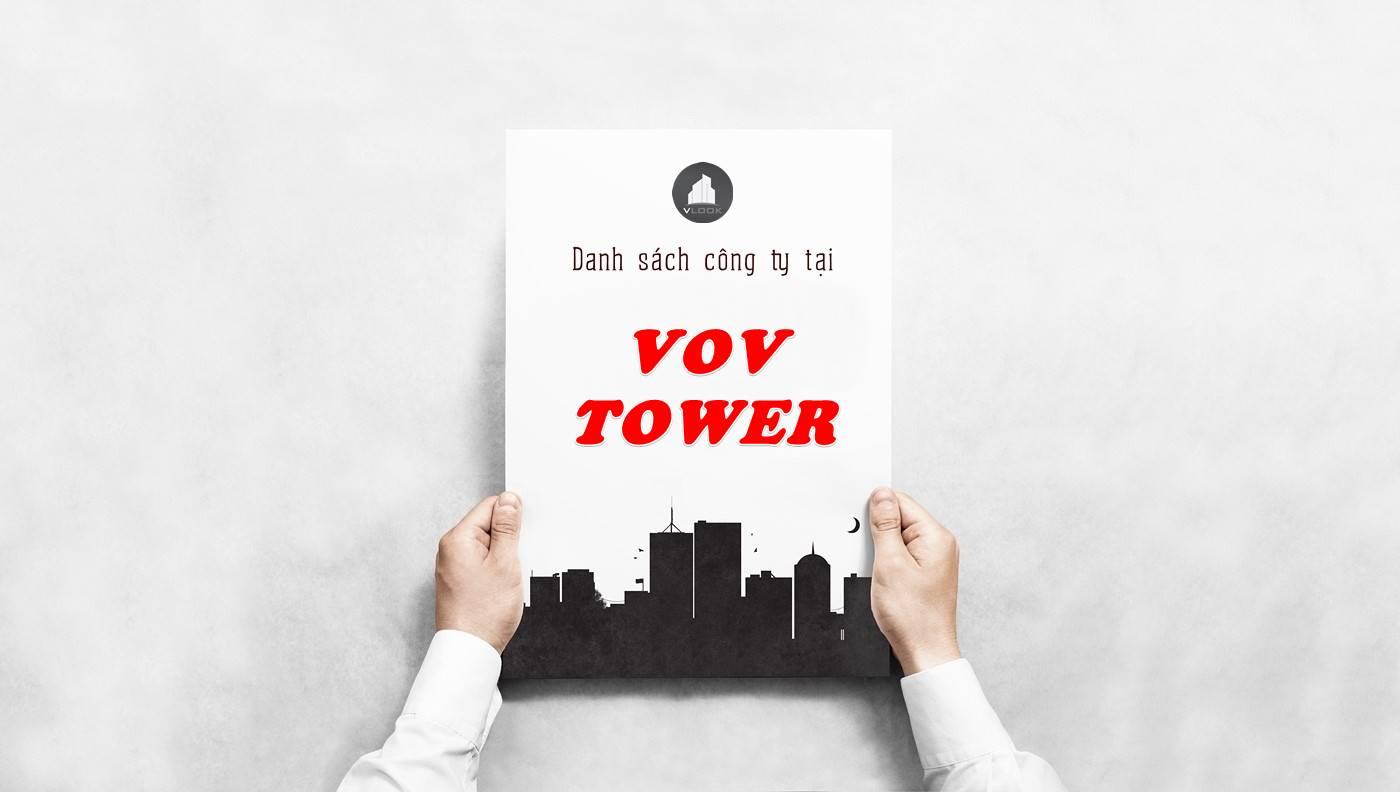 Danh sách công ty thuê văn phòng tại VOV Tower, Quận 1