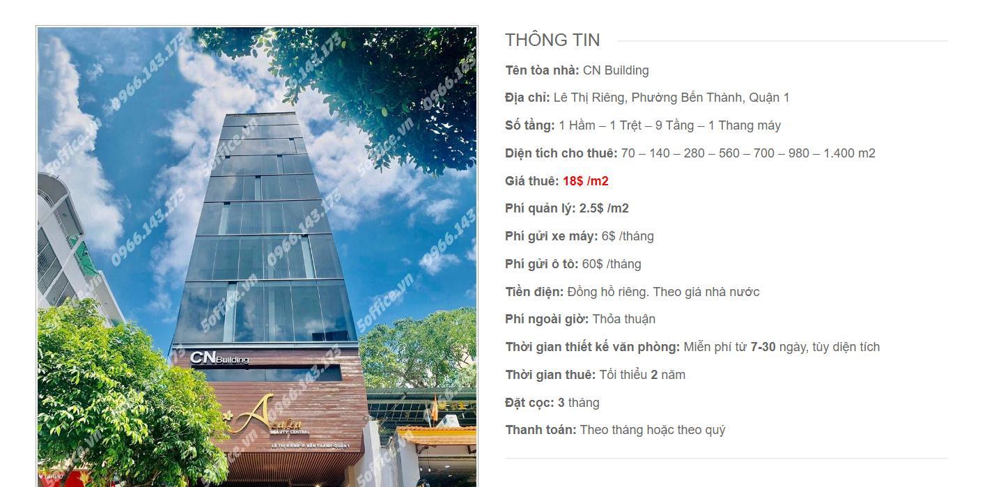Danh sách công ty thuê văn phòng tại CN Building, Lê Thị Riêng, Quận 1