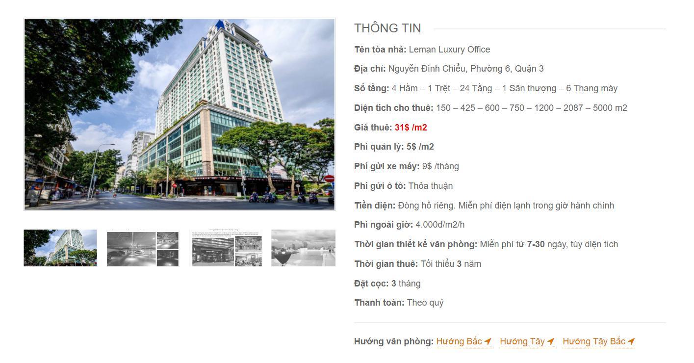 Danh sách công ty thuê văn phòng tại Leman Luxury Office, Nguyễn Đình Chiểu, Quận 1