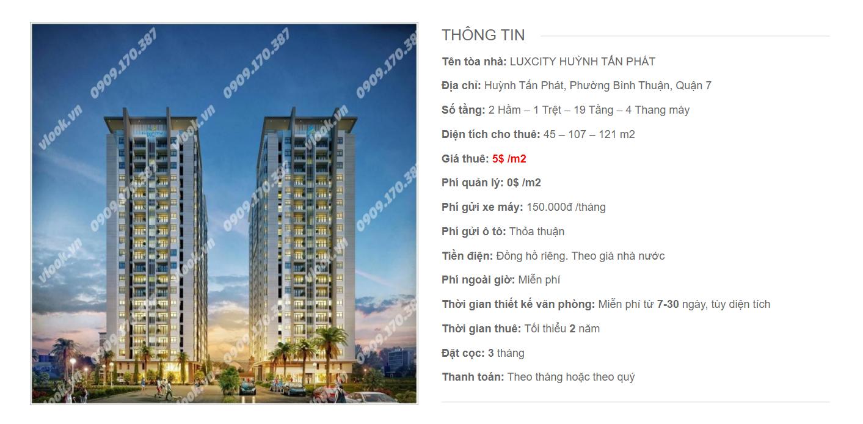 Danh sách công ty tại tòa nhà Luxcity Huỳnh Tấn Phát, Quận 7