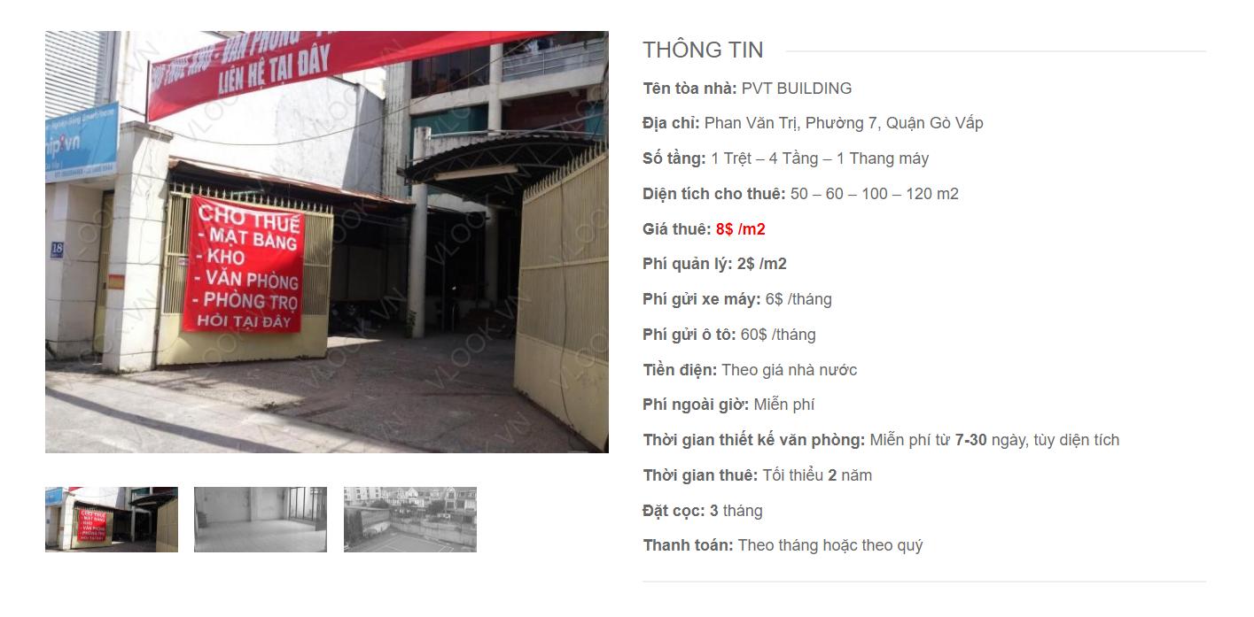 Danh sách công ty thuê văn phòng tại PVT Building, Phan Văn Trị, Quận Gò Vấp