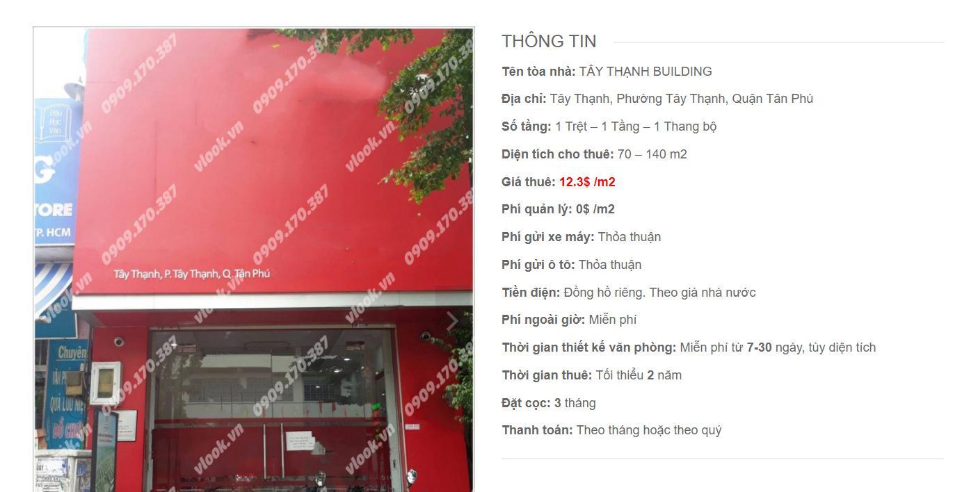 Danh sách công ty thuê văn phòng tại Tây Thạnh Building, Quận Tân Phú