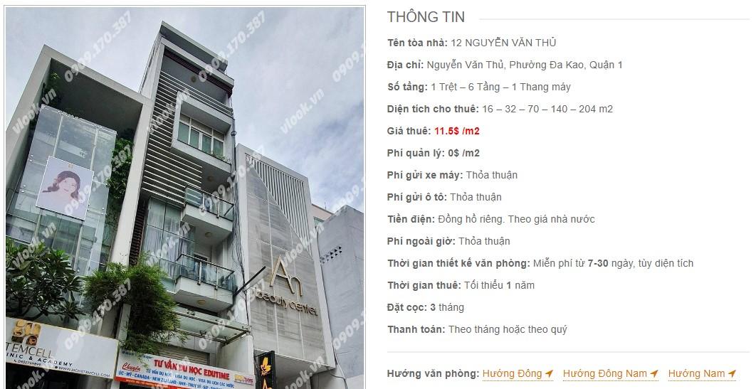 Danh sách công ty thuê văn phòng tại 12 Nguyễn Văn Thủ, Quận 1