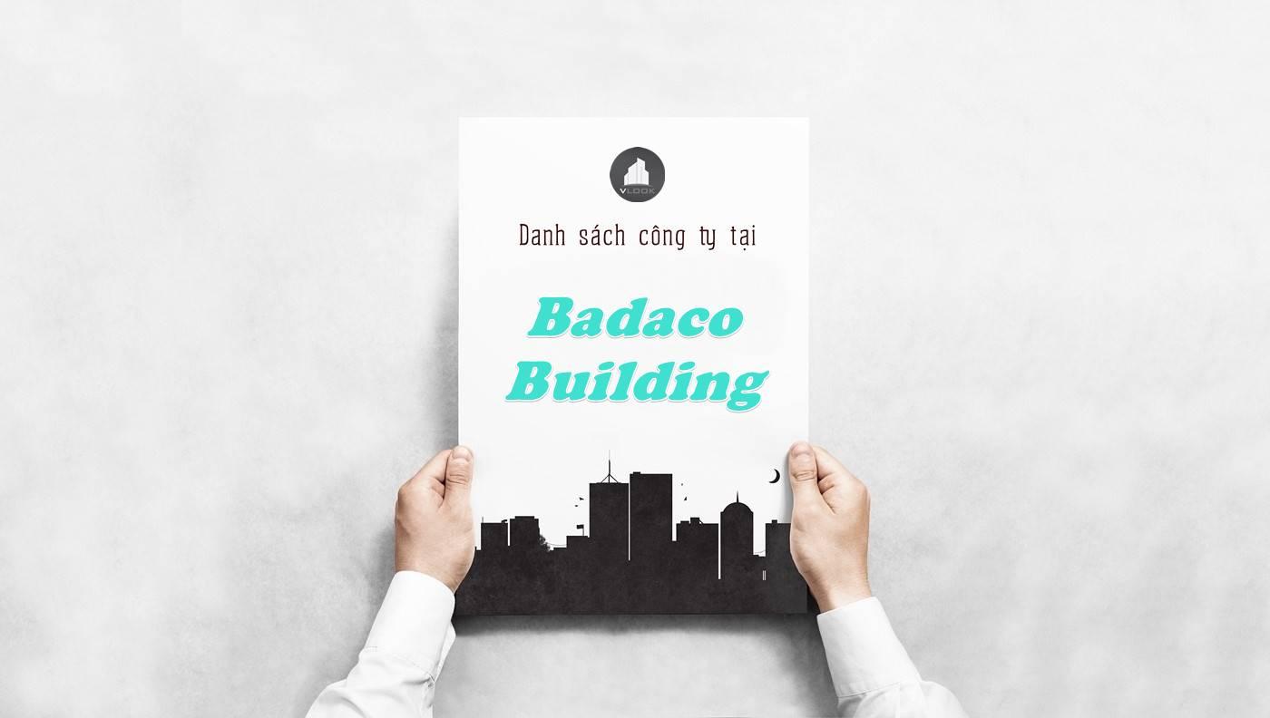Danh sách công ty thuê văn phòng tại Badaco Building, Quận 1