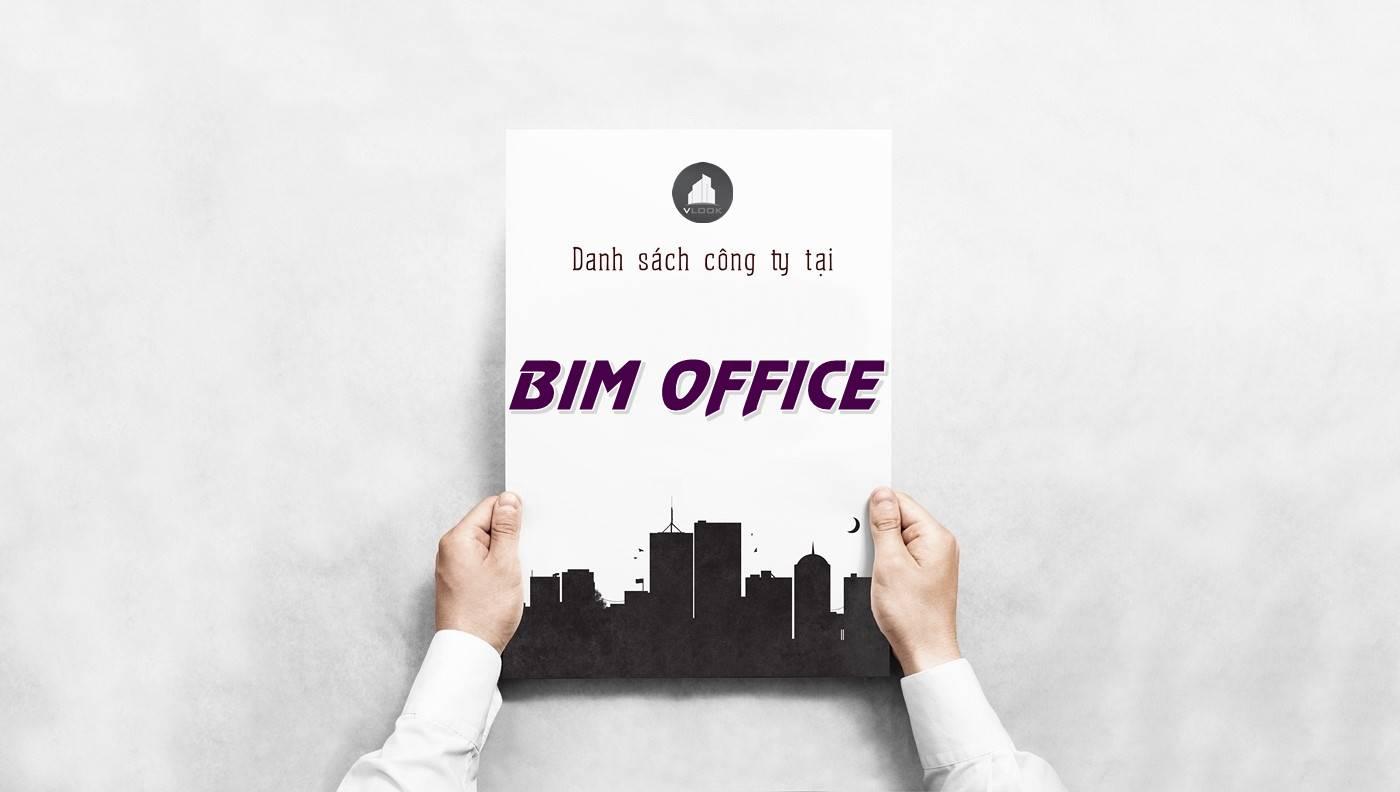 Danh sách công ty thuê văn phòng tại tòa nhà BIM Office, Quận 2