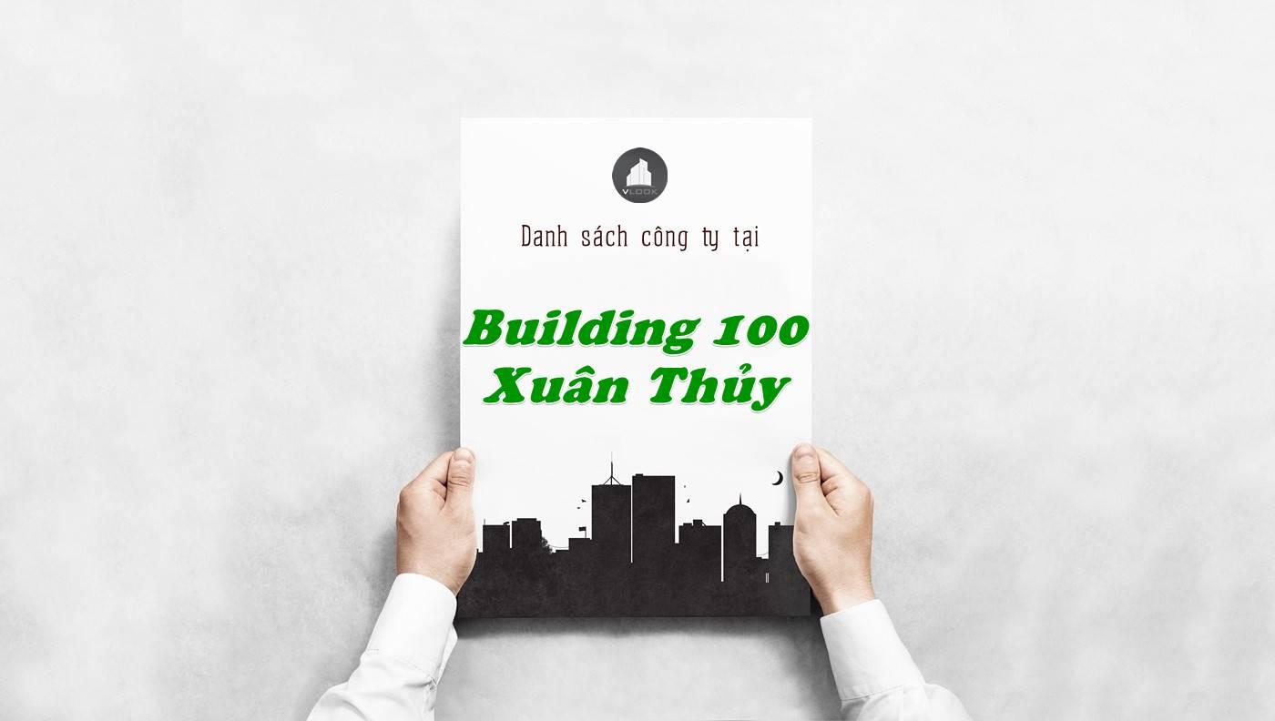 Danh sách công ty tại tòa nhà Building 100 Xuân Thủy, Quận 2