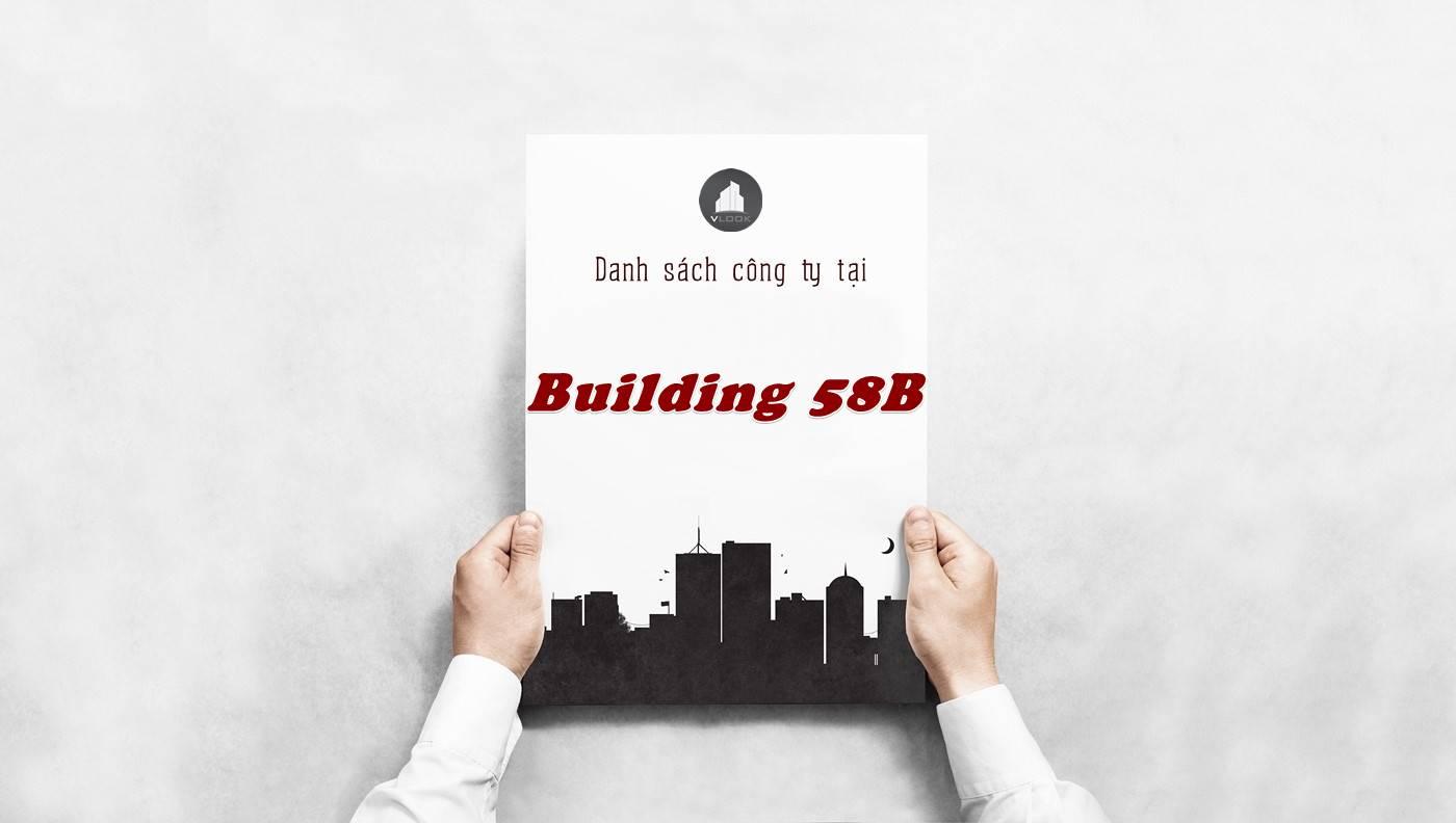 Danh sách công ty thuê văn phòng tại tòa nhà Building 58B, Quận 2