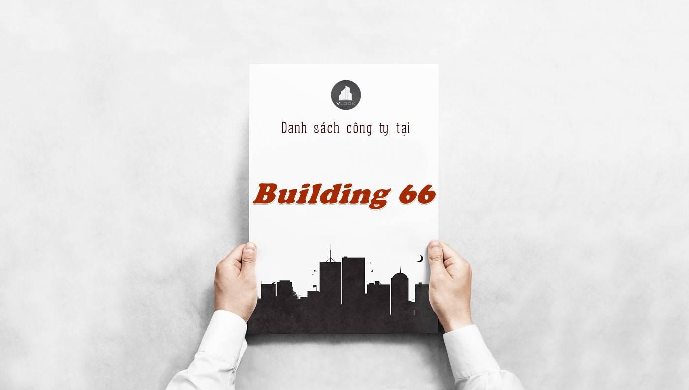 Danh sách công ty thuê văn phòng tại Building 66, Quận 2