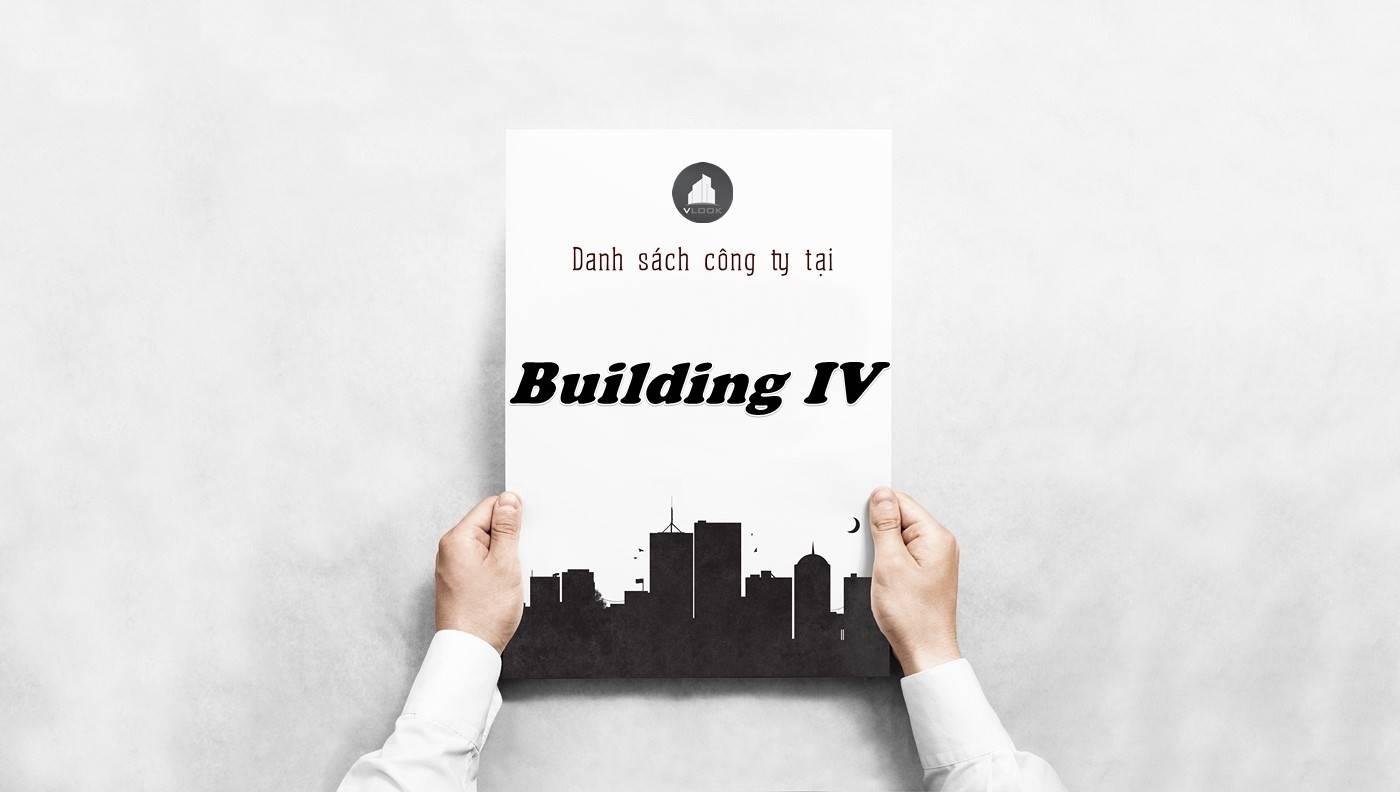 Danh sách công ty thuê văn phòng tại Building IV, Quận 2
