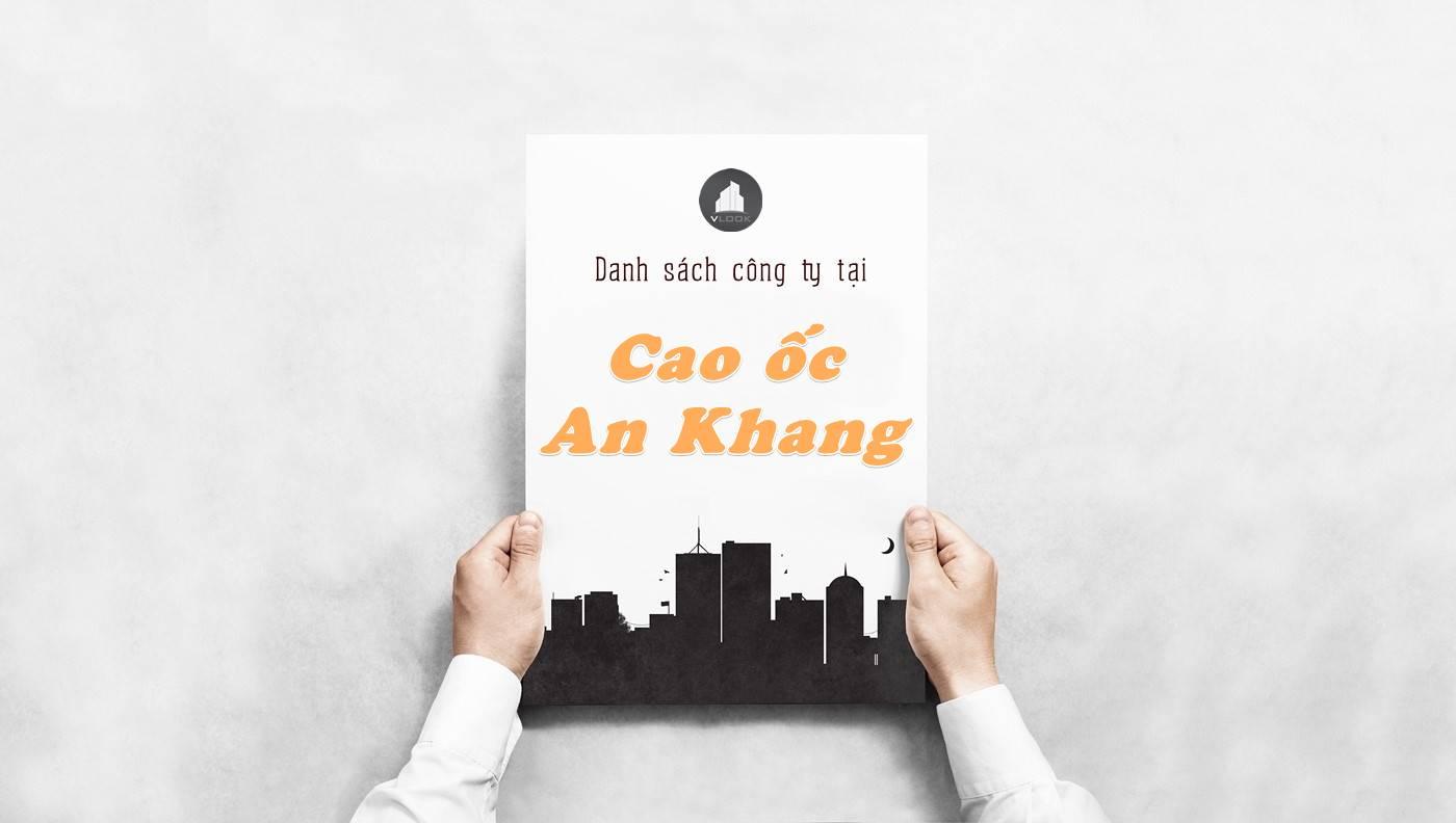 Danh sách công ty thuê văn phòng tại Cao ốc An Khang, Quận 2