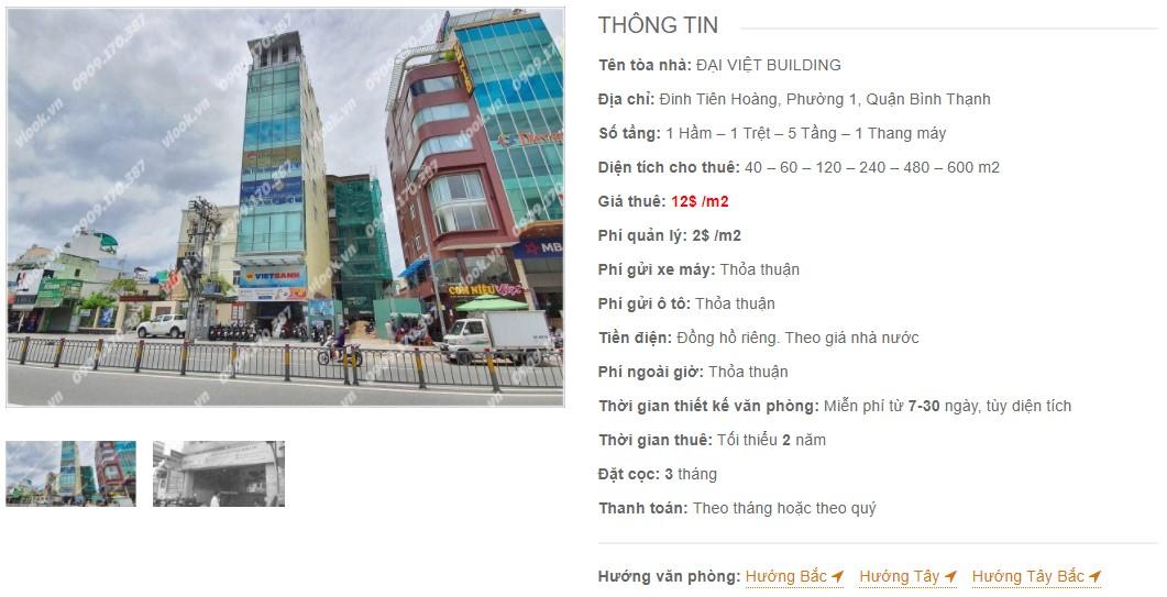 Danh sách công ty tại tòa nhà Đại Việt Building, Quận Bình Thạnh