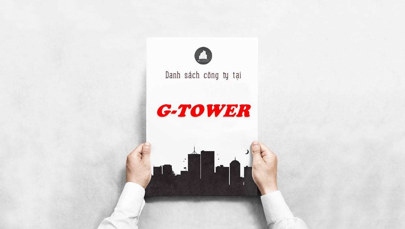 Danh sách công ty thuê văn phòng tại G Tower, Quận 2