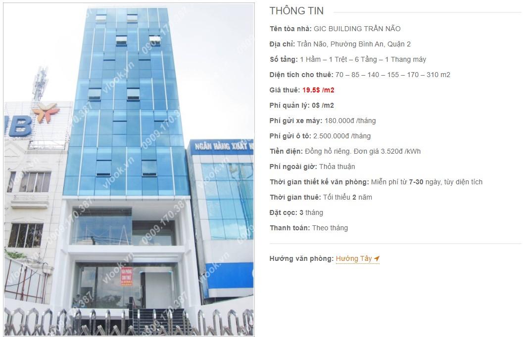Danh sách công ty thuê văn phòng tại GIC Building Trần Não, Quận 2