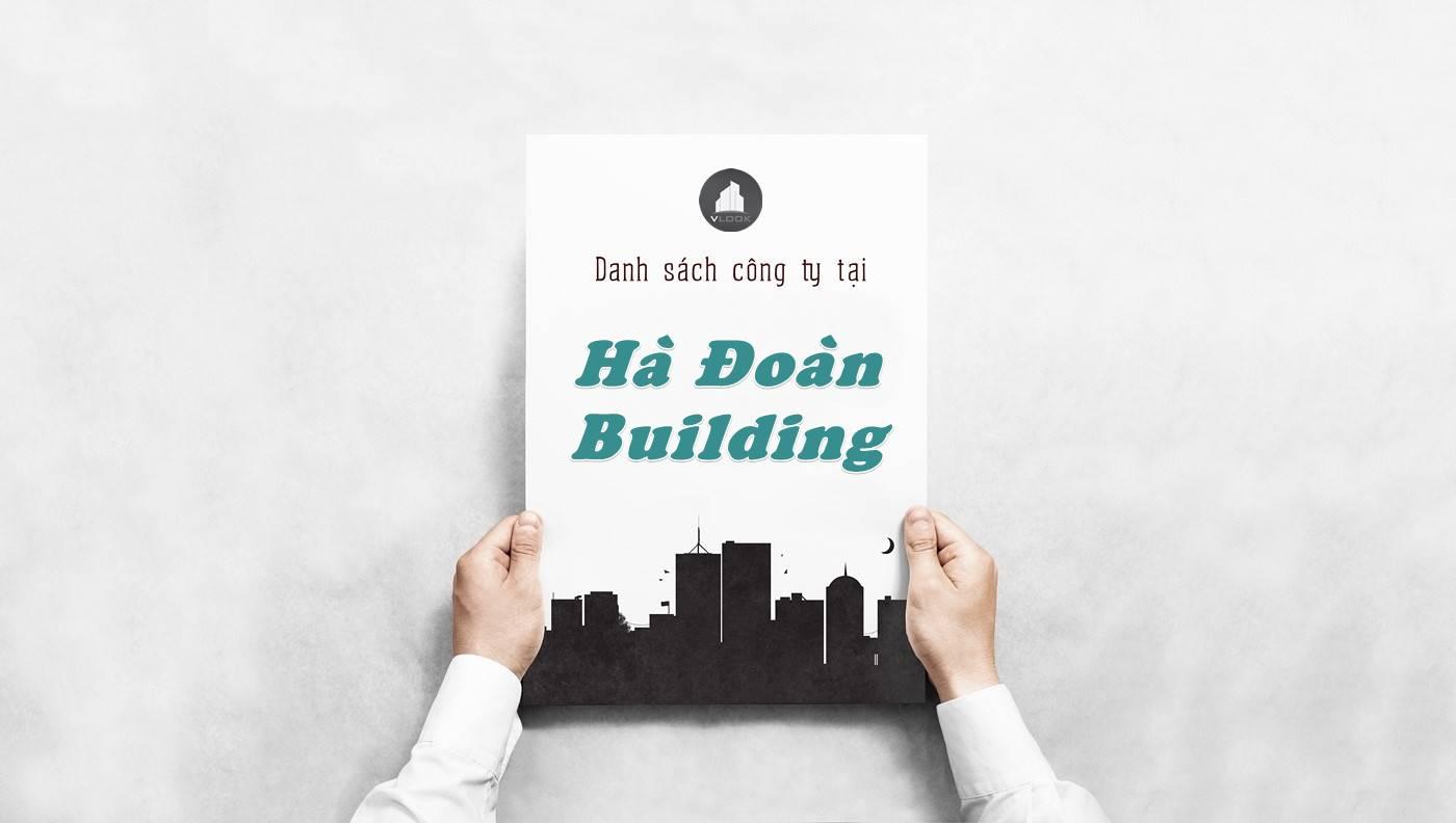 Danh sách công ty thuê văn phòng tại tòa nhà Hà Đoàn Building, Quận 4