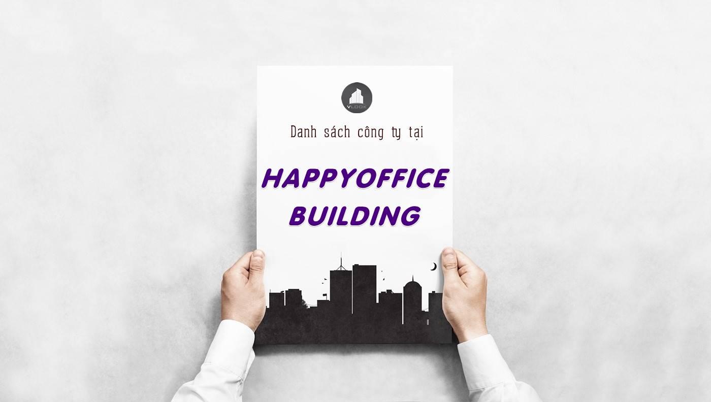 Danh sách công ty thuê văn phòng tại Happyoffice Building, Quận 2