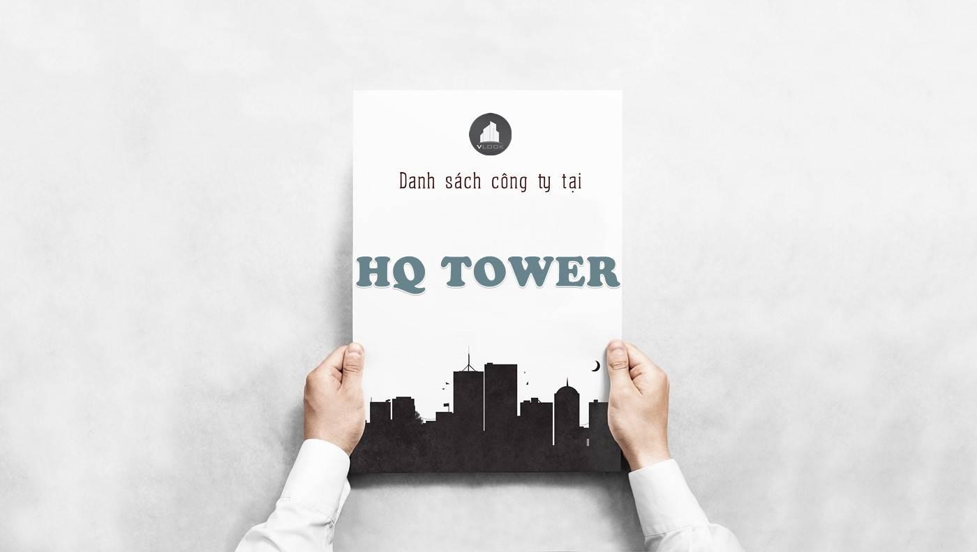 Danh sách công ty thuê văn phòng tại tòa nhà HQ Tower, Quận 2