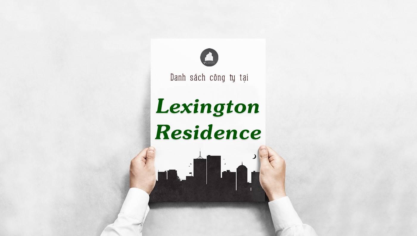 Danh sách công ty thuê văn phòng tại Lexington Residence, Quận 2
