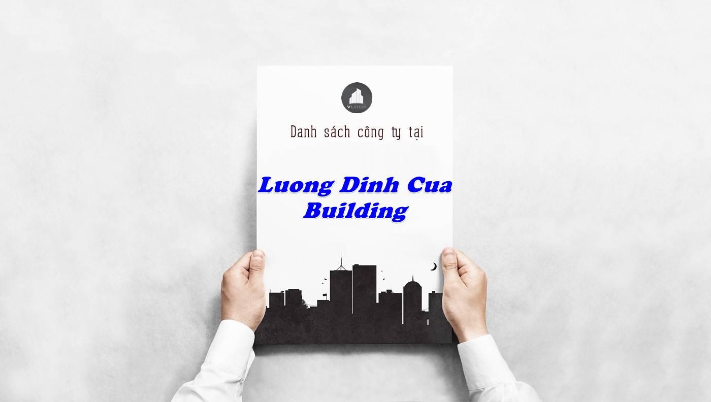 Danh sách công ty thuê văn phòng tại Lương Định Của Building, Quận 2