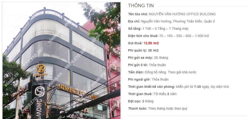 Danh sách công ty tại tòa nhà Nguyễn Văn Hưởng Office Building, Quận 2