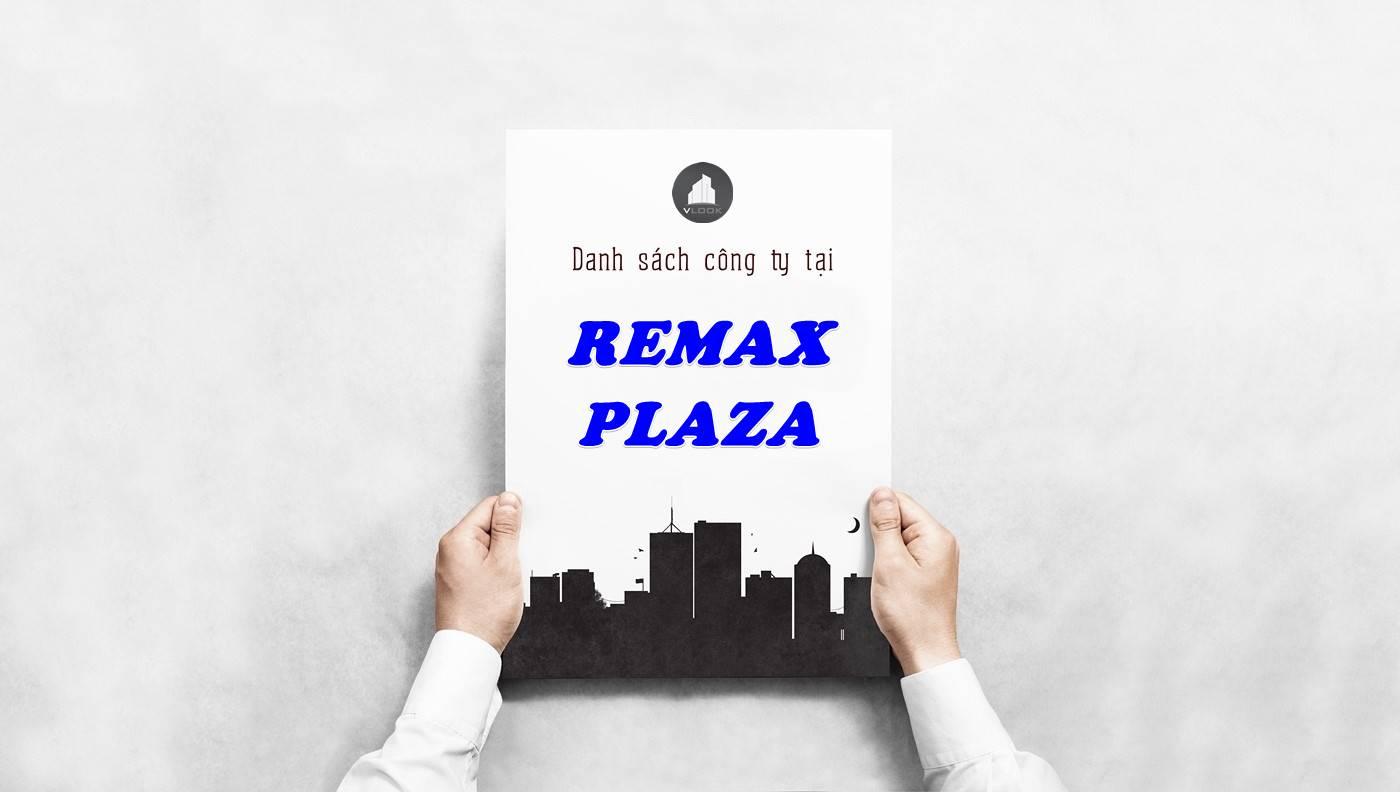 Danh sách công ty thuê văn phòng tại Remax Plaza, Quận 6