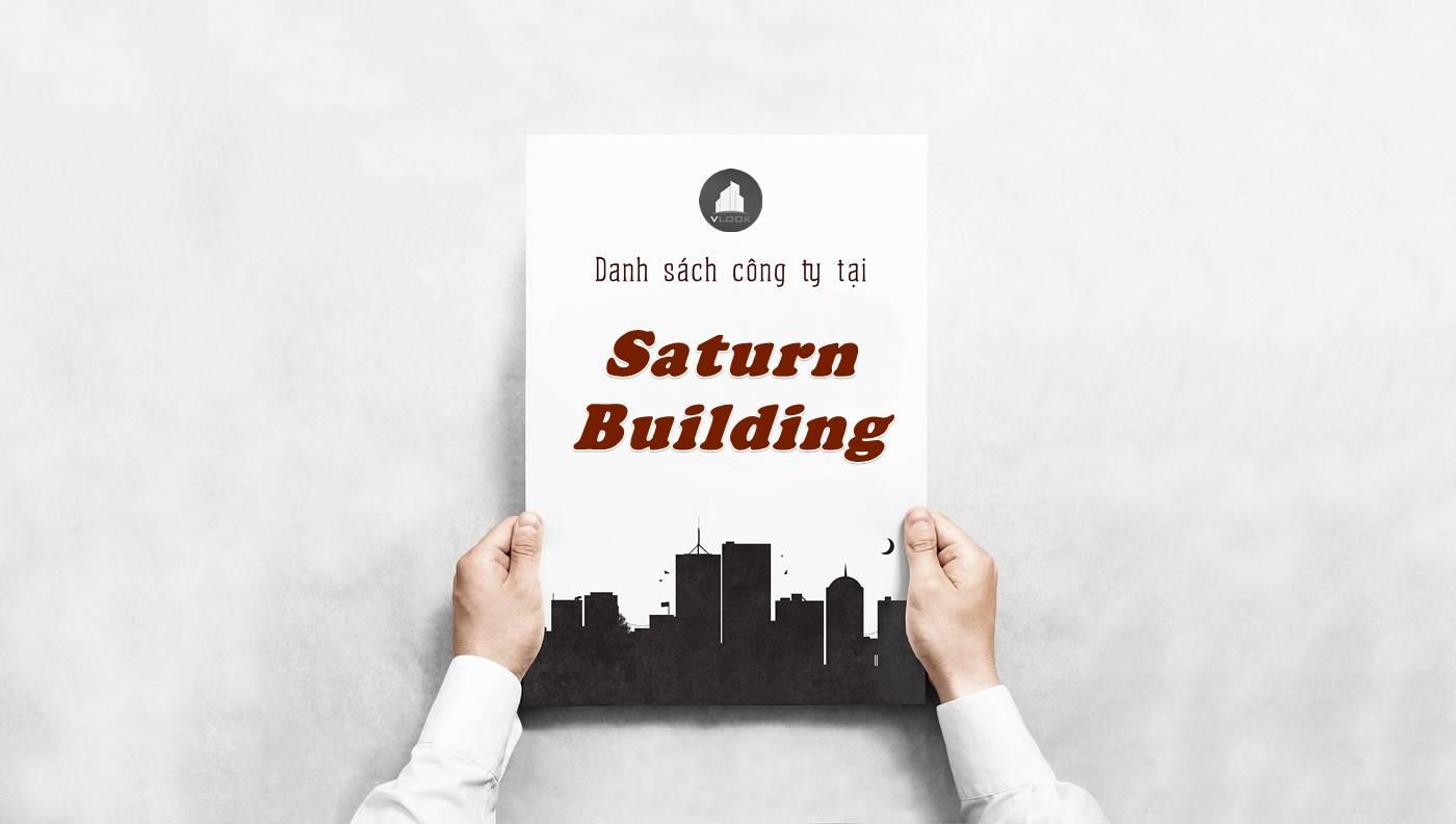 Danh sách công ty tại tòa nhà Saturn Building, Quận 4